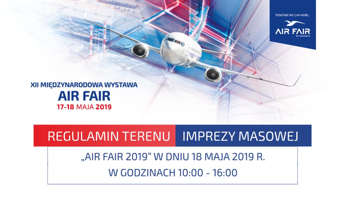 Air Fair 2019. Regulamin terenu imprezy masowej